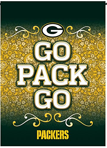 (Green Bay Packers Rico Premium 2-sided GARDEN Flag Outdoor House Banner Football)
