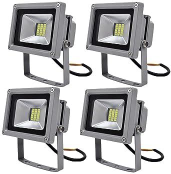 4 Pcs, 20W luz blanca fría SMD proyector LED Proyector de exterior ...
