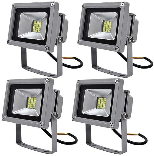 4 Pcs, 20W luz blanca fría SMD proyector LED Proyector de exterior Proyector
