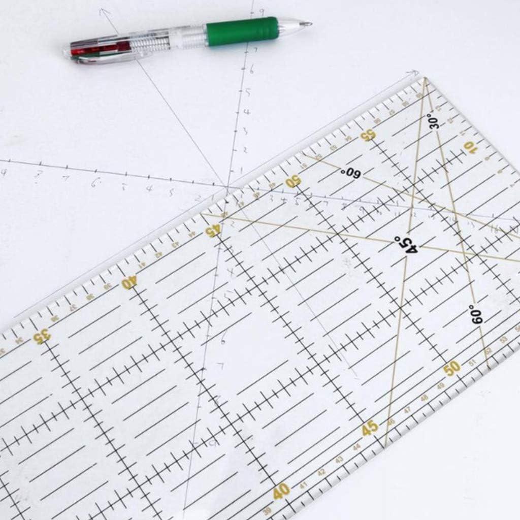 DIY hecho a mano patchwork pies sastre acolchado herramientas material acr/ílico 60x15cm patchwork medici/ón regla costura escala reglas