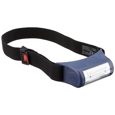"""'Scan Grip 307.70, lampe frontale """"I de View, plastique, noir/bleu, 10,5x 5,2x 4.3cm"""