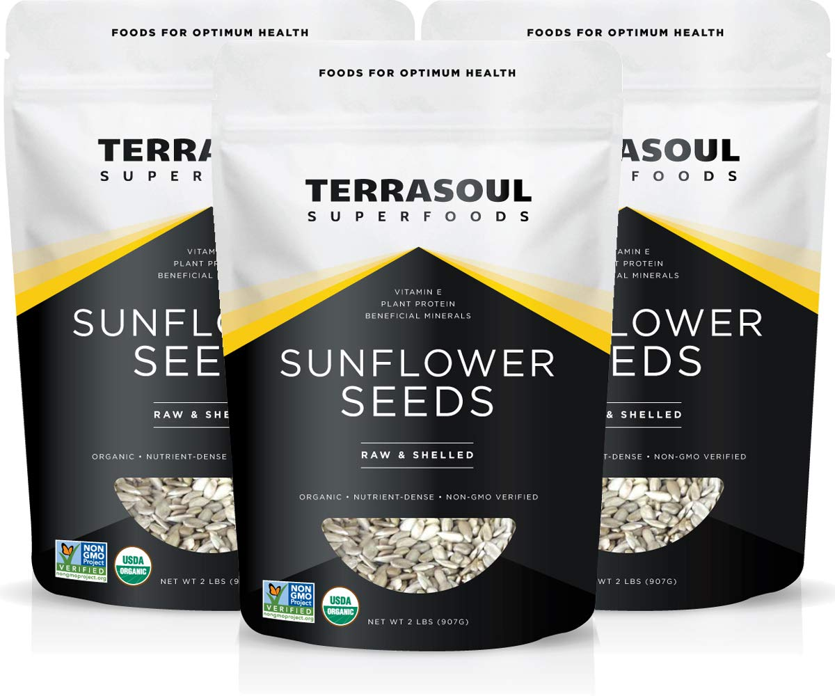 Terrasoul Superfoods Hulled Organic Sunflower Seeds, 6 Lbs (3 Pack) by Terrasoul Superfoods