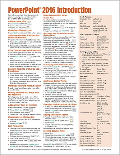 Microsoft PowerPoint 2016 Introduction Quick Reference Guide...