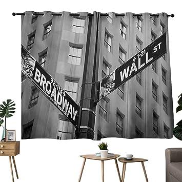 Amazon.com: NUOMANAN Bedroom Curtains 2 Panel Sets New York ...