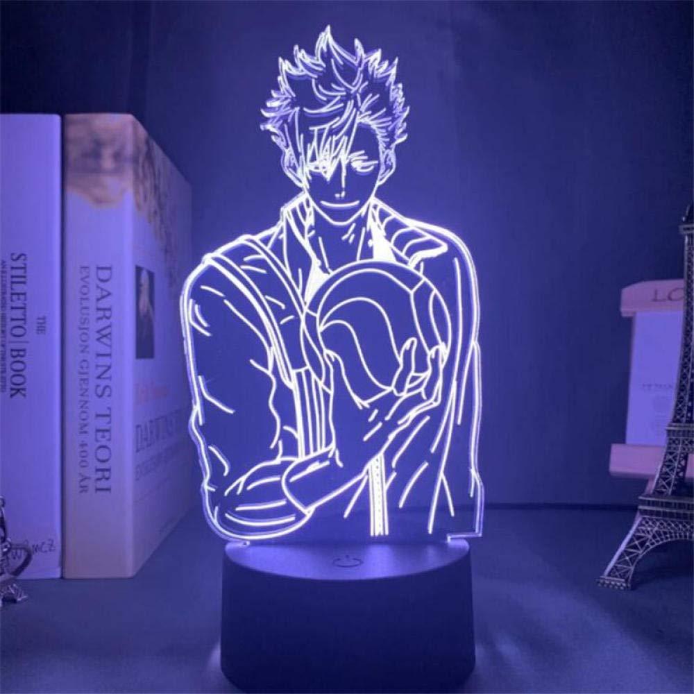 Lampara Led 3D - Anime Haikyuu ( Kuroo Tetsuro)