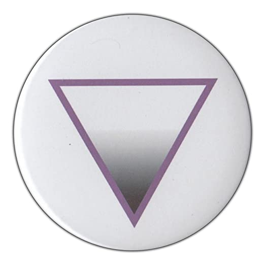 Amazon 3 Pin Back Button Aven Triangle Symbol Asexual