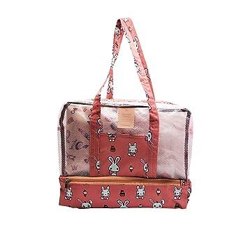 Amazon.com: Bolsa de malla multifunción para la playa, bolsa ...