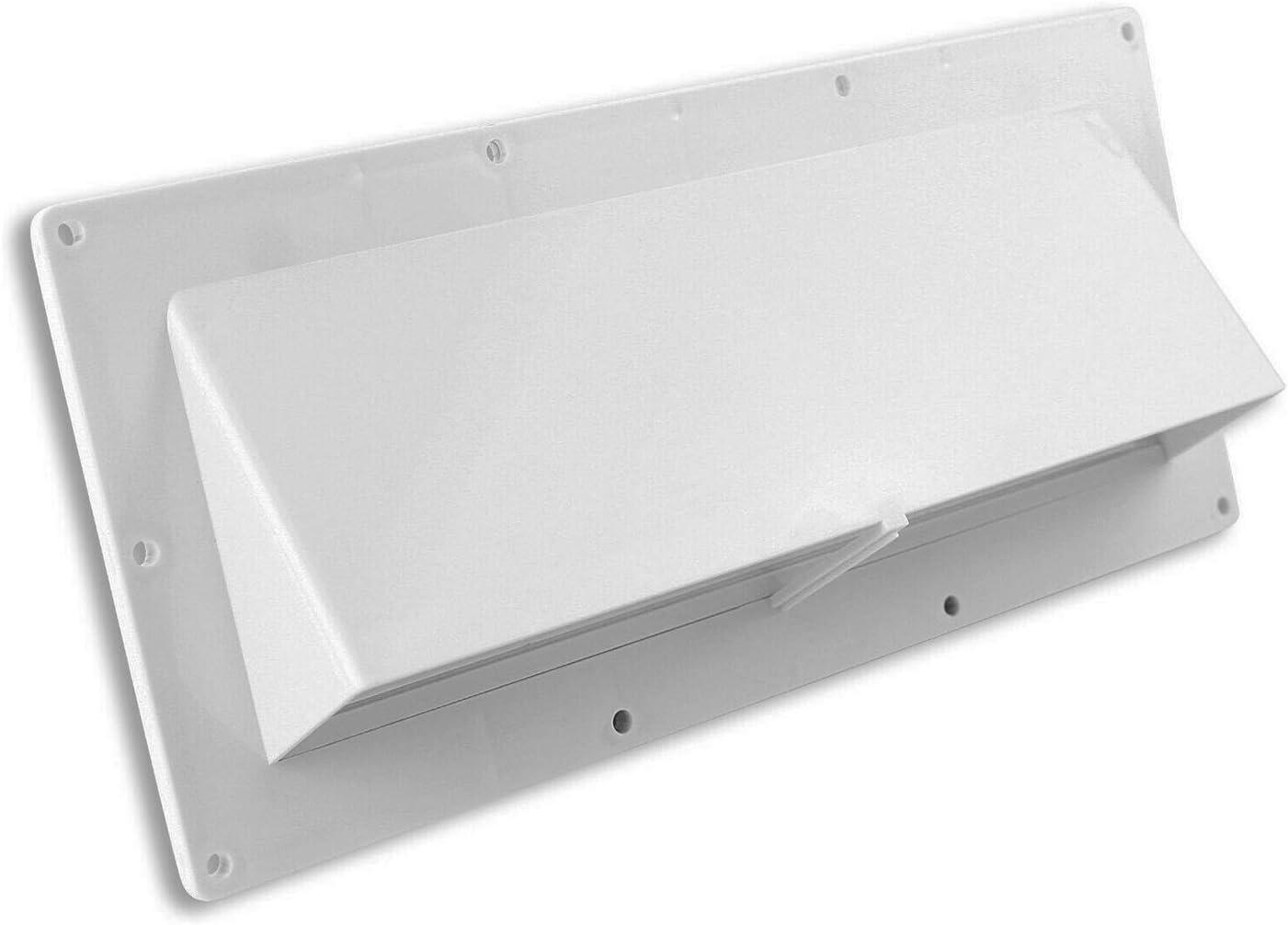 Cikuso VentilacióN de Pared Exterior para VentilacióN de Campana Extractora RV Blanca - con Flapper Mobile Home Camper: Amazon.es: Coche y moto