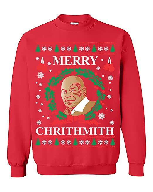 Mike Tyson Merry Christmas.Ysm Mike Tyson Merry Chrithmith Ugly Christmas Funny Sweatshirt Crewneck Sweater