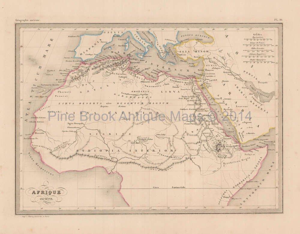 Ancient Africa Map.Amazon Com Ancient Africa Antique Map Malte Brun 1850