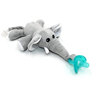 Baby Pacifier, Ztacking Pacifier Holder Infant Binky Nipple Teether Soothier Animal Elephant Toy Paci for Boys Girls - Non Toxic Removable Soothing
