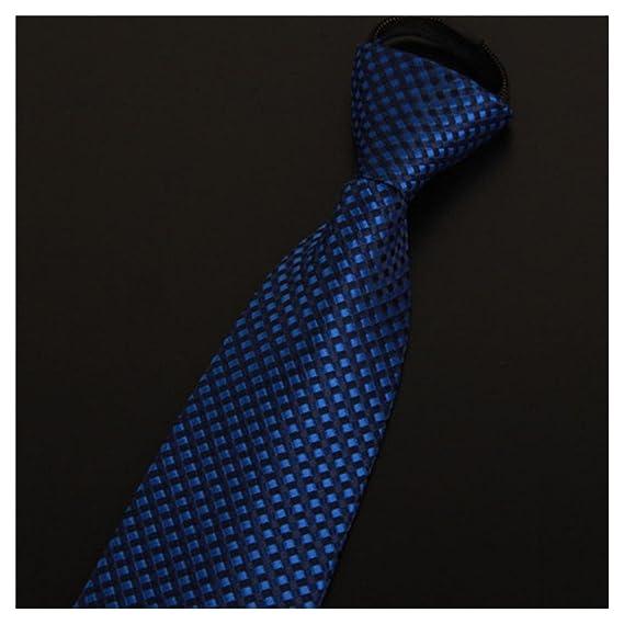 Lazy Men/'s Zipper Necktie Solid Casual Business Wedding Slim Zip Up Neck Tie US