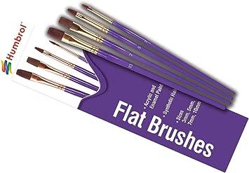 Humbrol AG4050 Coloro Cepillos de pintura tamaño 00, 1, 4, 8
