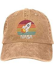 NASA czapka robaka, unisex retro kapelusz kowbojski miękka oddychająca czapka klasyczna regulowana kosmiczna czapki baseballowe