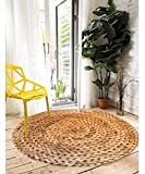 HOMEE 3D Carpets round Stamp Wild Sofa Tables Balcony Rug Feet Tatami Mat,3D Stamp Whetstone,100 Cm