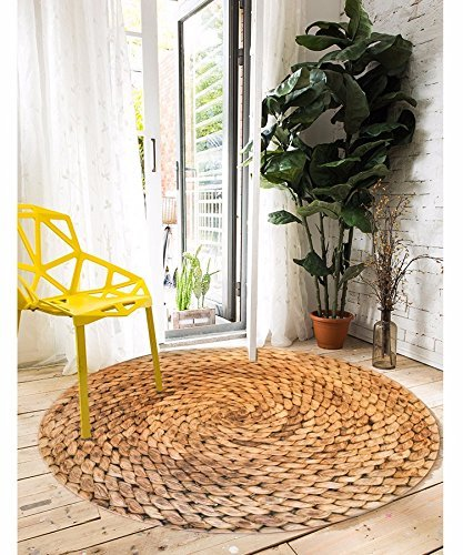 HOMEE 3D Carpets round Stamp Wild Sofa Tables Balcony Rug Feet Tatami Mat,3D Stamp Whetstone,100 Cm by HOMEE
