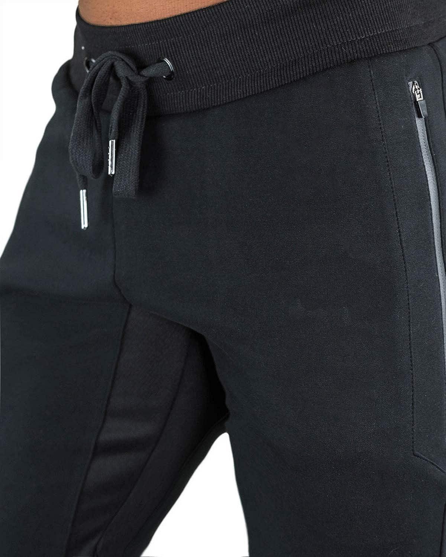 KEFITEVD Pantaloni da Allenamento a 3//4 da Uomo Pantalone Sportivo Corto in Cotone Pantaloni da Jogging Slim Fit in Vita Elastica Capri Pantaloncini Estivi Fitness Borse Zipper Traspiranti