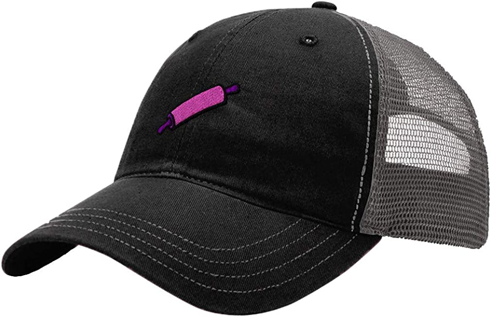 Custom Trucker Hat Richardson Pink Rolling Pin Embroidery Soft Mesh Cap Snaps