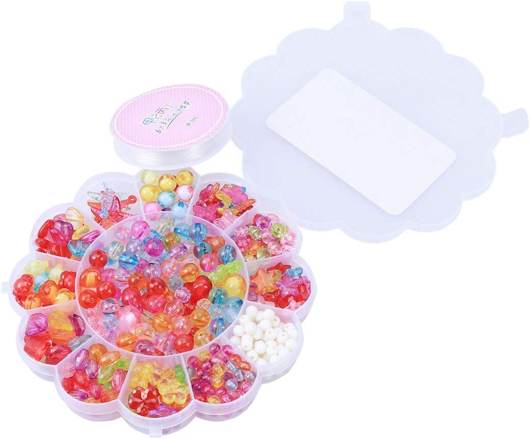 Toyvian Cuentas Abalorios en una caja para niñas Collares DIY ...