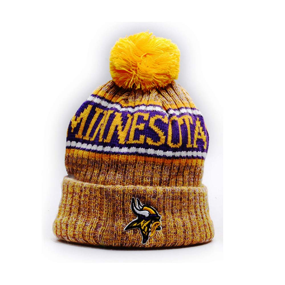 c6a5c23e9bc Gloral HIF Minnesota Vikings Hat Knit Beanie Hat Football Toque Cap for  Fans at Amazon Men s Clothing store