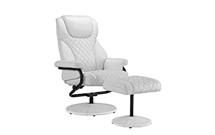 amazon com office swivel chair with footstool faux leather