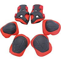 Kid's Protective Knee Pads Wrist Roller Elbow Blading Blades Pad Guards 6pcs Set for Skating Skateboarding Cycling Biking BMX Bicycle Scooter