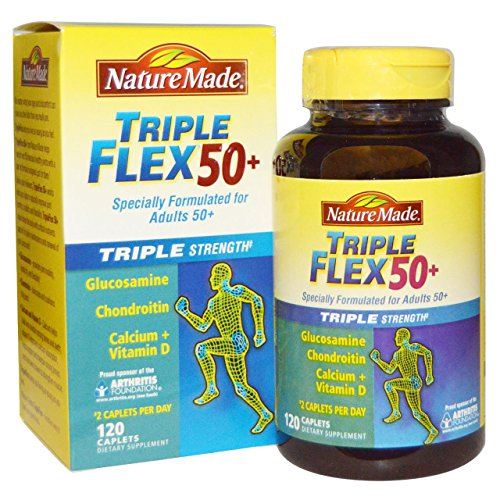 Nature Made Triple Flex 50+, Value Size 120 Caplets (Pack of 3)