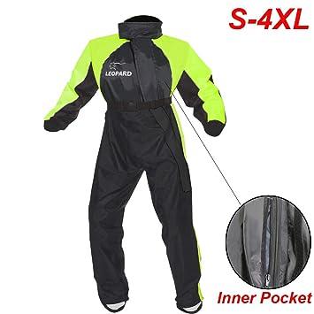 Abbigliamento specifico Abbigliamento Tuta Impermeabile Intera Anti Acqua Pioggia Alta Visibilità Riflettente