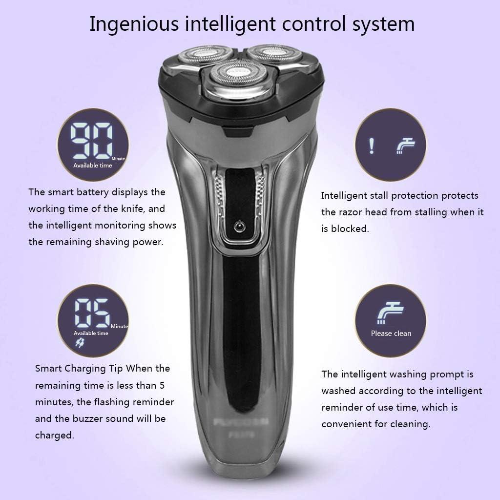 YHDD Maquinilla de Afeitar eléctrica for Hombres, Gel de baño ...