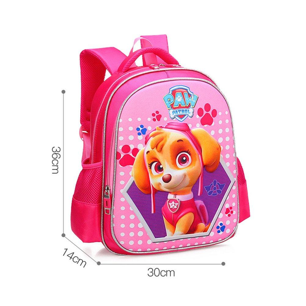 kalakk 3dバッグボーイズ/ガールズバックパックキッズ子犬の子のスクールバッグLovelyサッチェル学校ナップサックバッグ  Pink Big B07FTC79BJ