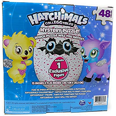Hatchimals Colleggtibles Mystery Puzzle 48 Pieces - Includes 1 EXCLUSIVE Figure: Toys & Games