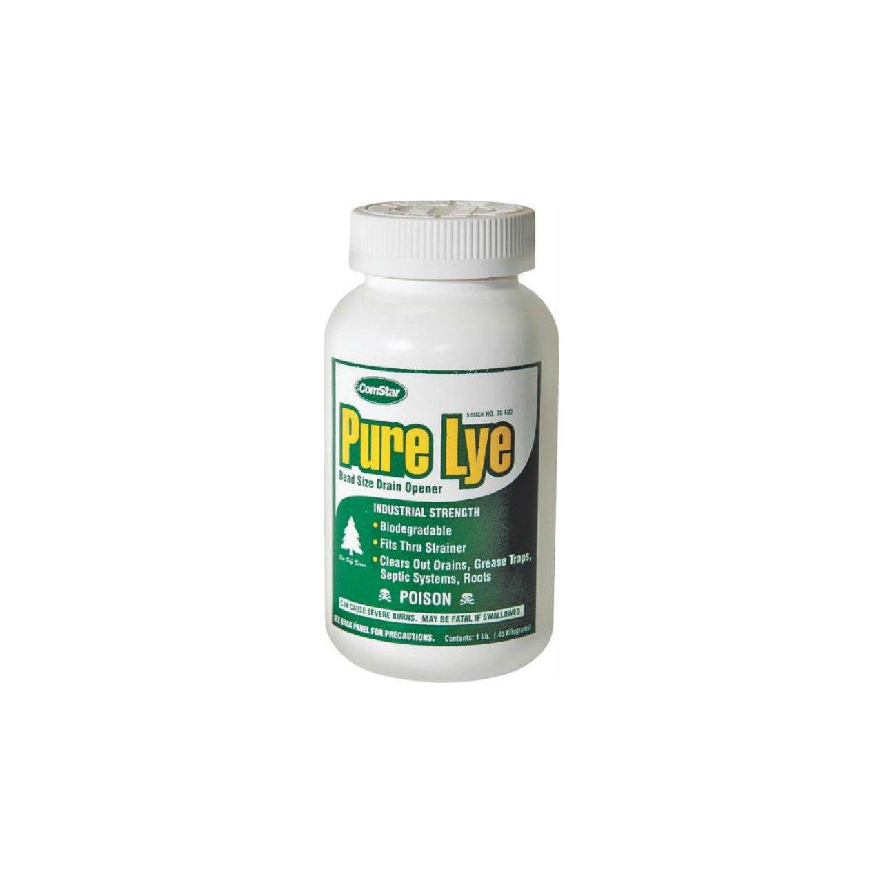 Comstar 30-500 Pure Lye Drain Opener, Odorless, 1 Lb