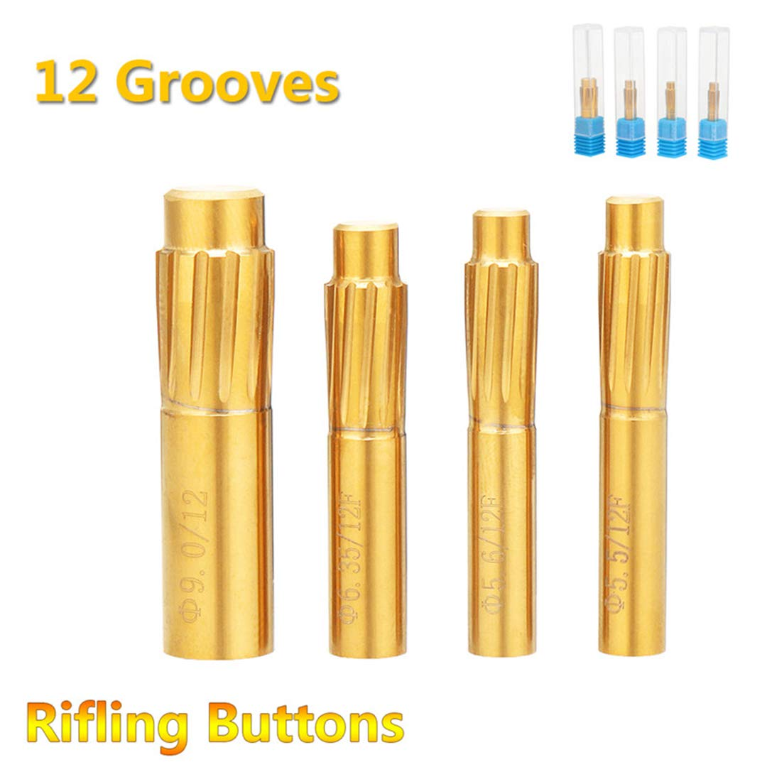 5.5Mm 5.6Mm 6.35Mm 9.0Mm 12 Flutes Hard Alloy Chamber Helical Machine Reamer Break Durable Tool Accessories 6.35mm by LUCKYWE