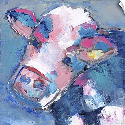 CANVAS ON DEMAND Bessie Cow Wall Peel Art Print, 48