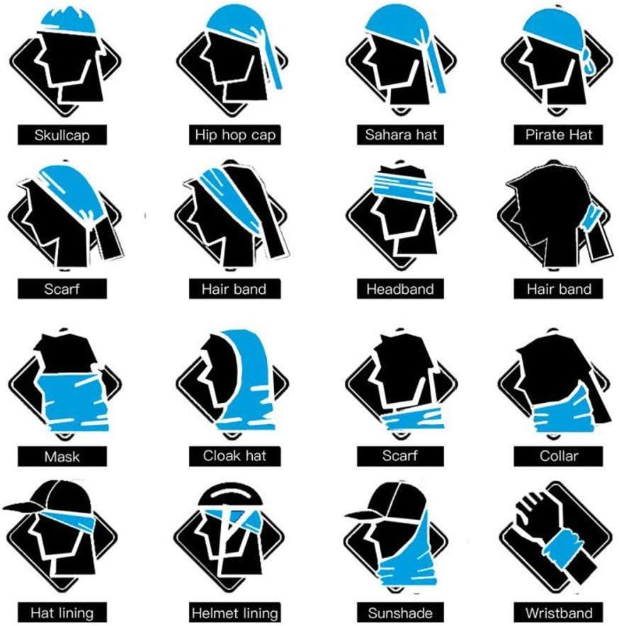 99native Halstuch Schlauchschal Multifunktionstuch mit 3D Drucken Kopfbedeckung Gesichtsmaske Sonnenschutz Atemschutz Mundschutz Halstuch Motorrad Tuch Atmungsaktiv Bandanas