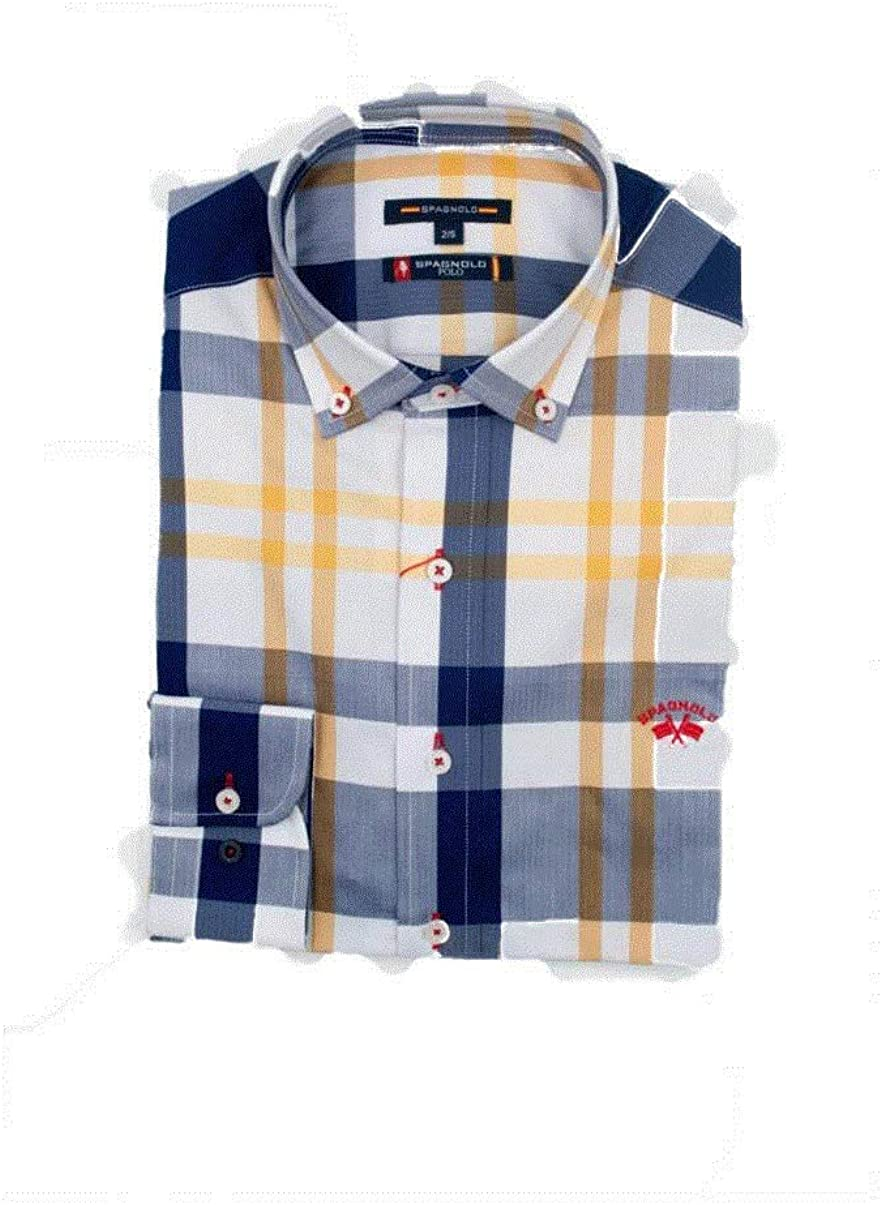 SPAGNOLO PAUL & ESTHER Camisa con Boton Espiga Slim Polo 1123: Amazon.es: Ropa y accesorios