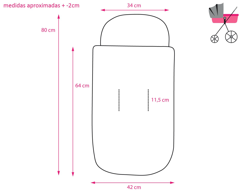 Pekebaby Saco ENTRETIEMPO Cuco Impermeable modelo 118