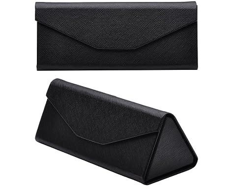 Amazon.com: jingyuu Black Triangle Folding Eyeglass Cases ...