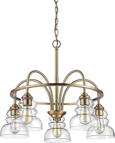 Millennium 7345-HBZ Five Light Chandelier, 5, Bronze