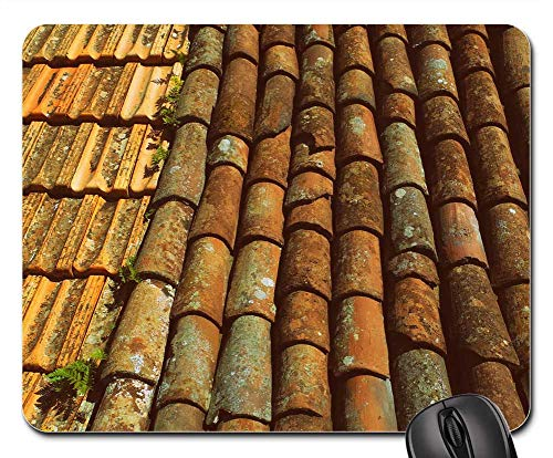 (Mouse Pads - Tiles Roof Slate Clay Terracotta Roofing Texture)