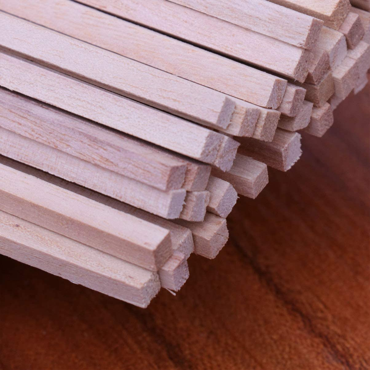 50 unidades Varillas de madera sin terminar Artibest varillas de madera para manualidades
