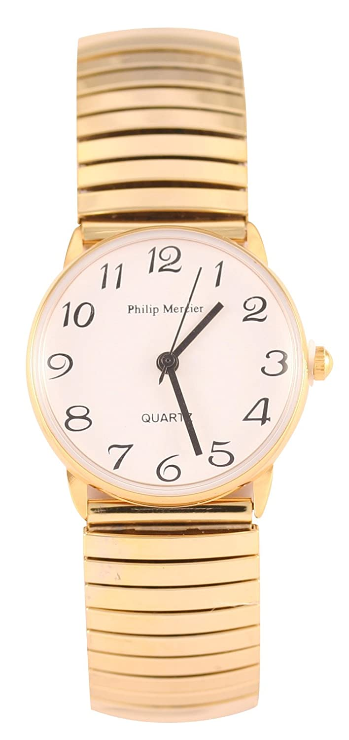 9feb5f720 Philip Mercier Women's Quartz Watch with White Dial Analogue Display and Gold  Bracelet MC46/A: Amazon.co.uk: Watches