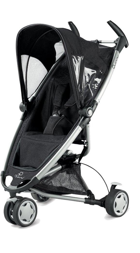 Quinny 65605780 Zapp - Silla de paseo con cesto de la compra, capota, protector para la lluvia, pinza para sombrilla y adaptador para capazo (3 ruedas), color negro Dorel