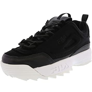 1c16988971e878 Fila Women's Disruptor Ii Premium Black/Black/White Ankle-High Walking Shoe  -