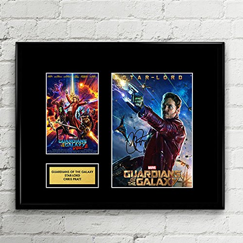 (Chris Pratt Guardians of the Galaxy Star-Lord Signed Autographed Photo Mat Custom Framed 11 x 14 Replica Reprint Rp)