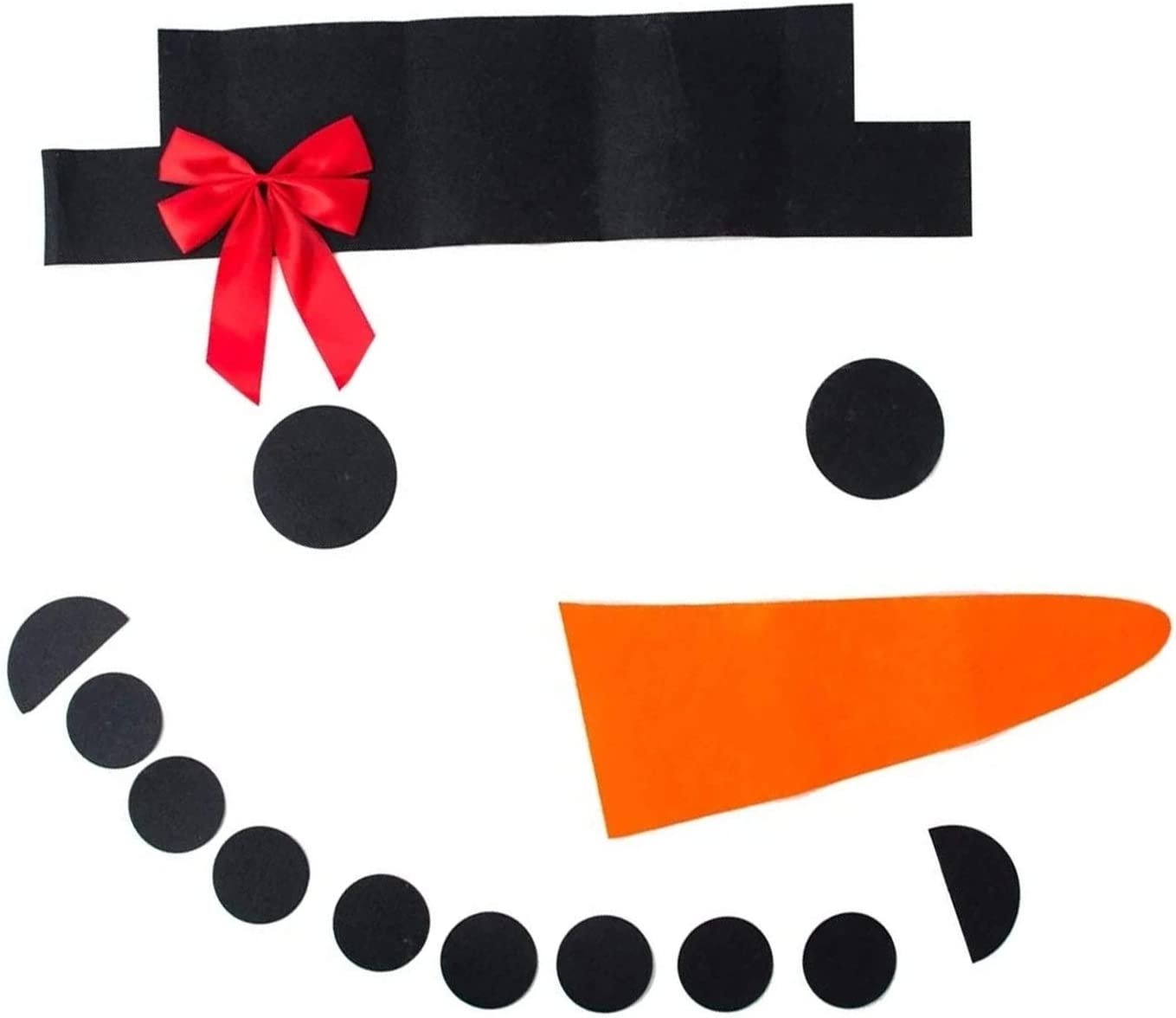 Amoin 16Pcs DIY Christmas Snowman Stickers Set Outdoor Garage Door Decoration Merry Christmas Holiday DIY Snowman Decoration