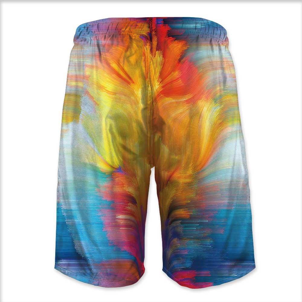 Printsonne Mens Swim Trunks,Christmas Watercolor Illustration Quick Dry Board Shorts