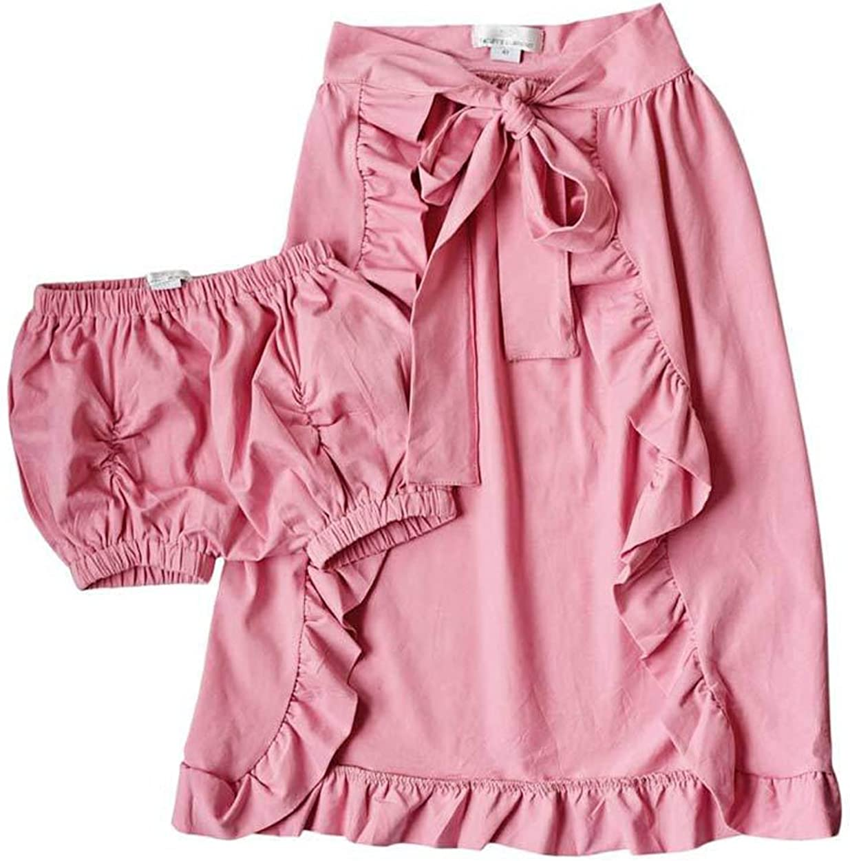 Shorts Pants Party Beach Summer Outfits Sundress Dzień dobry 2Pcs Baby Girl Ruffle Hemlines Dress Skirt
