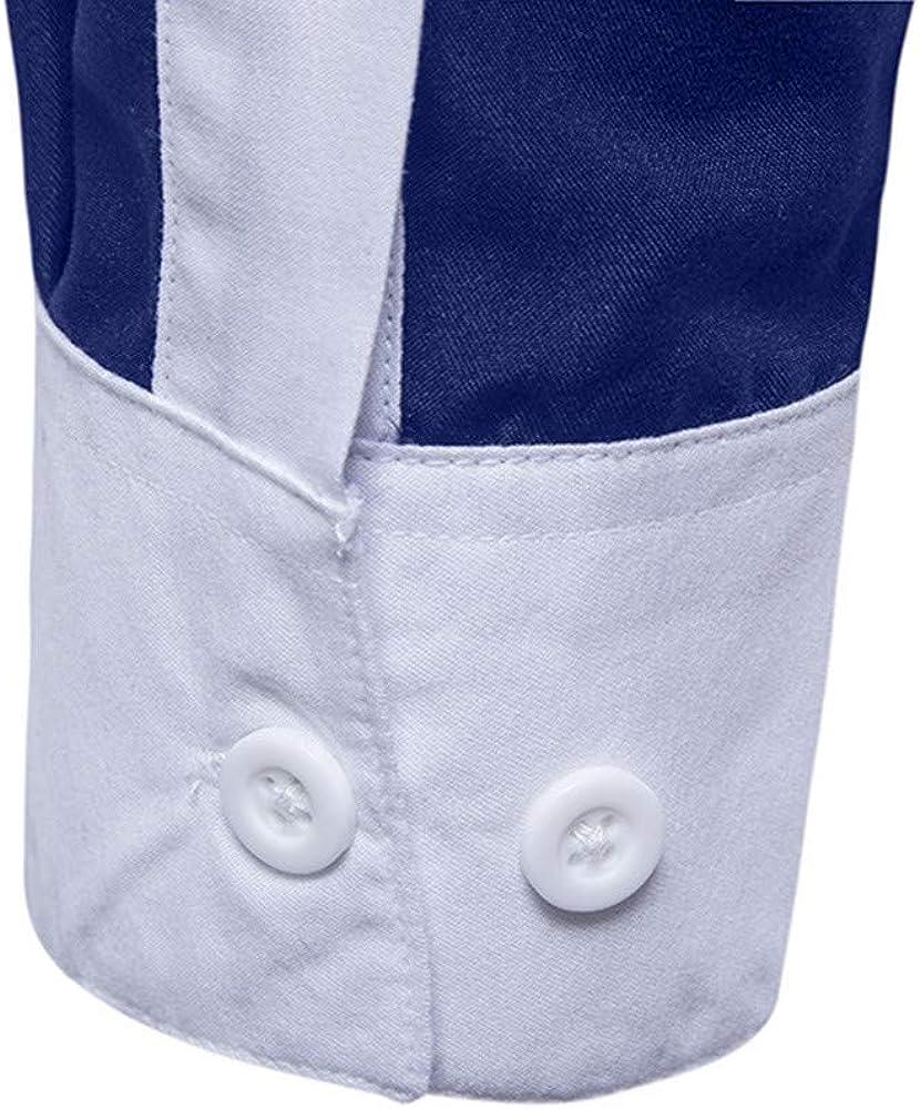 Camisas Hombre Manga Larga Cuadros YiYLunneo Hombres de Manga Larga de Oxford Trajes Formales Casuales Fit Camisas de Vestir Blusa Costura de Invierno: Amazon.es: Ropa y accesorios