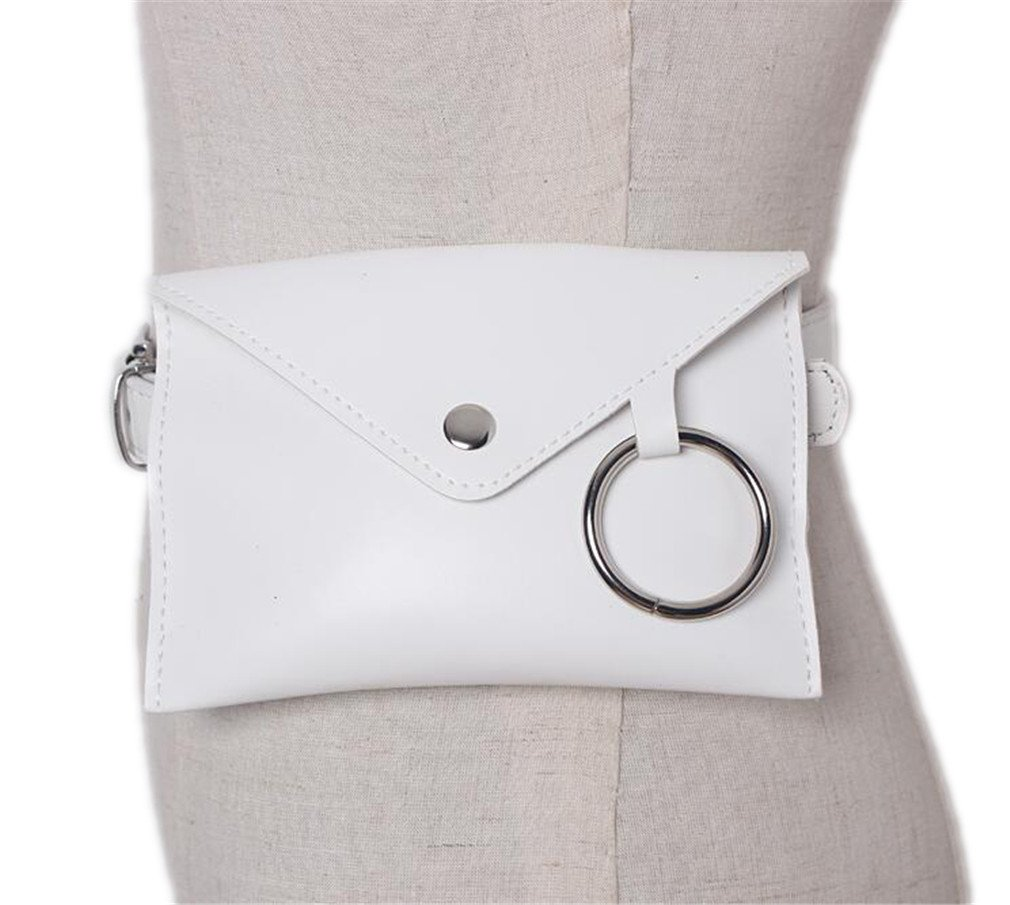 XUEERBAO Fashion New Women Waist Pack Pouch Bags Women Envelope Bags Fanny Pack Bolosa white